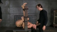 Bound Paisley Parker roughly fucked and throat trained by hard cock, brutal messy deepthroat!