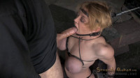 Big titted blonde brutally facefucked & massive sybian orgasms!