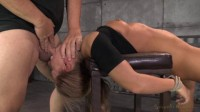Blonde girl Carter Cruise tied up and ragdoll fucked from both ends!