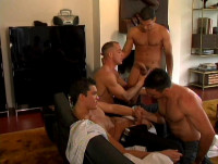 Gangbang for 10 amazing men