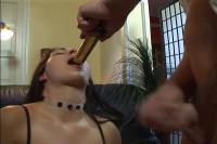 Brunette anal addict