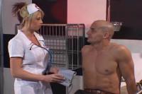 Blonde nurse rammed