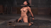 Busty Asian Mia Li shackled to sybian and throatboarded without mercy by two hard cocks!