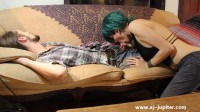 AJ Jupiter-Sleeping cousin gets sucked and jerked off