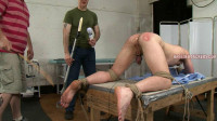 Rob - 4 - Spanked till his cheeks burn red, fucked with a vibrator, nuts tied
