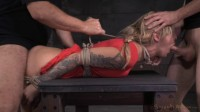 Tattooed alt slut Kleio Valentien tied up and passed around, rough fucking and epic deepthoat!
