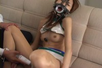 Hot bondaged and humilated japanese young girl and hard face fucked.