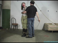 Equestrian Disciplined with Tight Bondage and a Tighter Gag part 1