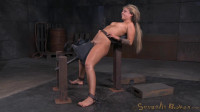 Sexy blonde bound on a sybain and utterly destroyed by dick