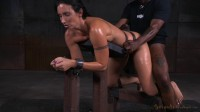 Fit MILF Wenona belted in strict bondage and roughly fucked with BBC, brutal punishing deepthroat!