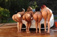 Naked sexy girls washing machines