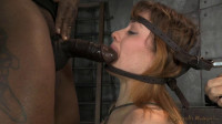 Redhead Jessica Ryan in strict bondage on sybian, brutal messy deepthroat in blowjob machine!