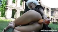 Hot Kinky Jo- Big dildo in ass