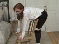 Five hot horsewomen are securely gagged and stringently tethered in their