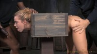 Alina West - Tiny blonde cutie bound in a box and fucked from both ends (2015)