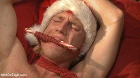 Straight hunk gets an edging surprise for the holidays!