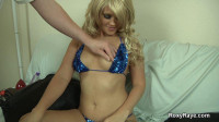 Blonde Roxy Gets Man Handled