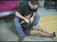 Lola Lynn Carried, Hogtied, Gagged, and Clamped - Part 1