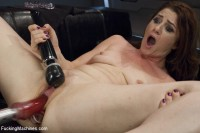 Cici shows us the power of her orgasms from ass& pussy FuckingMachines