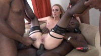 Affina Kisser's intensive interracial gangbang four on one kinky fucking (2016)