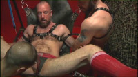 Brutal Bears Fist Orgy In Darkroom