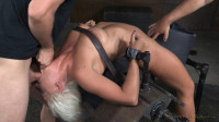 Holly Heart bent over backwards with brutal drooling deepthroat!