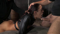 Lean Latina Lyla Storm bed bound in leather straightjacket, rough sex brutal gagging! (2014)