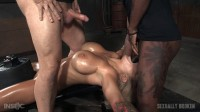 Blonde With Sporting Boobs Domination & Hardcore Blowjob