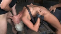 Big breasted sybian slut with brutal drooling deepthroat