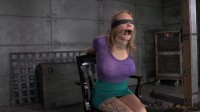Bound busty blonde does epic deepthroat on 2 hard cocks, fucked rough and hard!