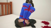 Restricted Senses – Blue Bodysuit Red Rope