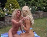 Toying fun outdoors