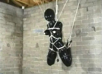 I leave her there to endure her cruel bondage