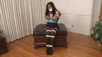 Bound and Gagged - Maxine X Hogtied with Two-Layer Gag