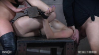 Local College girl finds herself bound, fucked, deepthroated and made to cum over and over!