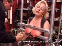 Hard tits and pussy blonde torture with needles (2014)