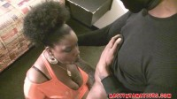 huge tit ebony dark in orange top fucked hard