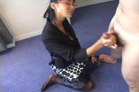 Japanese Uncensored Femdom Handjob