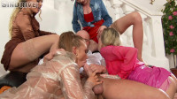 A Hot Party Started With Piss Galore Spraying All Over The Place