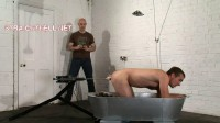 Arse screwed by a fuck machine, spanked, boot worship , swapping gay men.