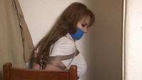 Bound and Gagged -Busty Alexis Taylor Bound in the Closet