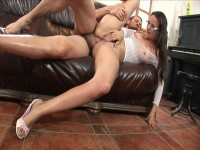 Claudia Rossi and her fucker in foot fetish sex
