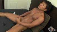 Japanese guy jerking off