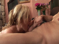 Horny mommy is naughty cock sucker