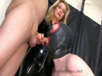 Domina taught to suck dick
