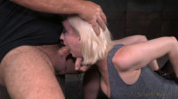 Pale blonde Cherry Torn chained down and trained