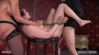 Girl next door is bound, suffers rough sex from authentic BDSM couple