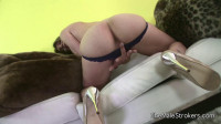 Hot Blonde Tranny Spura Thick Load on Her Belly!