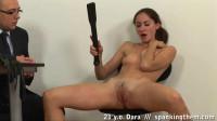 21 y.o. Dara - spanking and self spanking till orgasm.