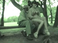 French wife nadine takes blacks in the park (real amateur video)